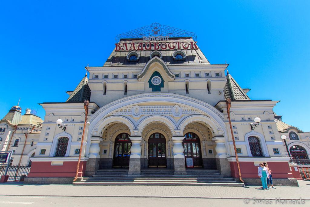 Sehenswürdigkeiten in Wladiwostok Bahnhof