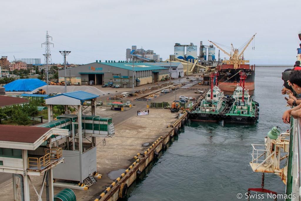 Hafen in Donghae Südkorea