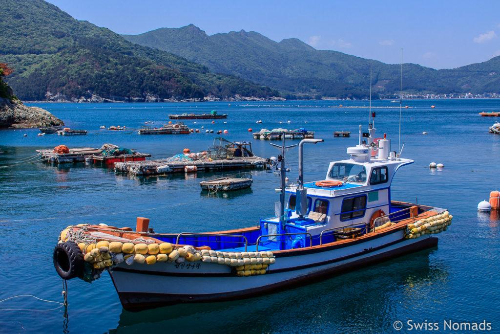 Fischerdorf auf Geoje in Südkorea