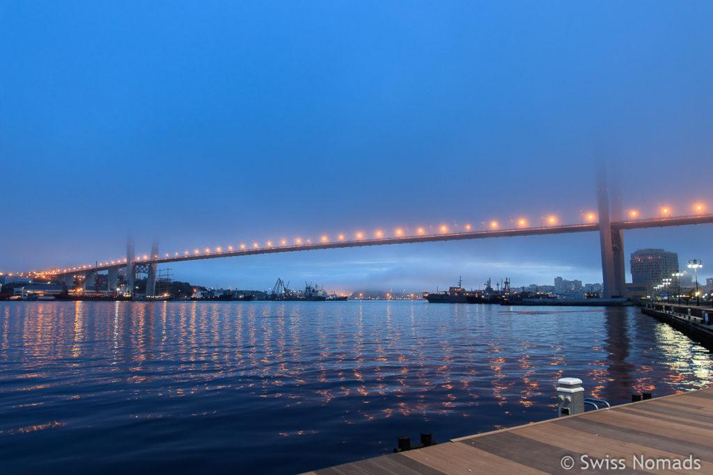Sehenswürdigkeiten in Wladiwostok Golden Horn Bridge