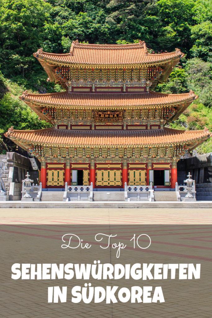 Die Top 10 schönsten Sehenswürdigkeiten in Südkorea