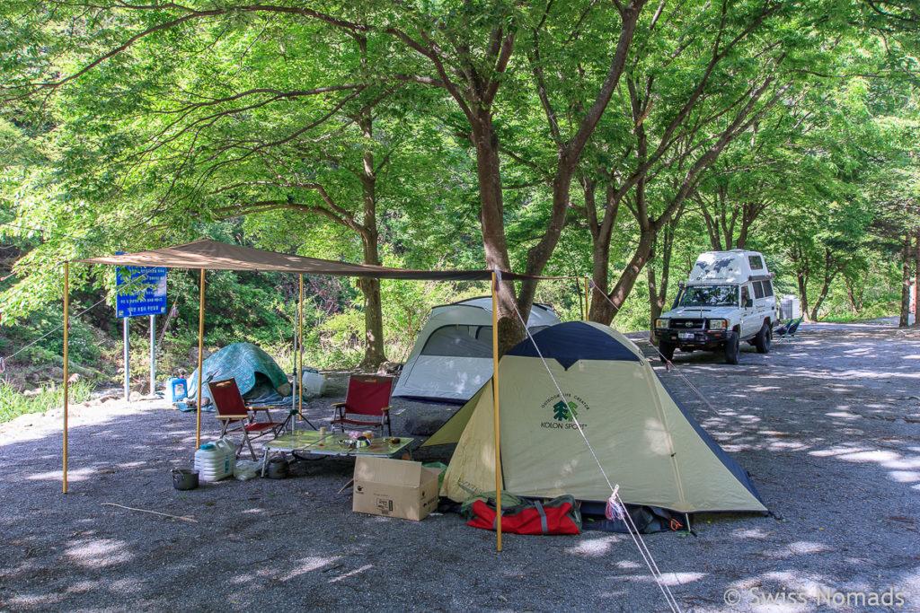 Frei Camping in Südkorea