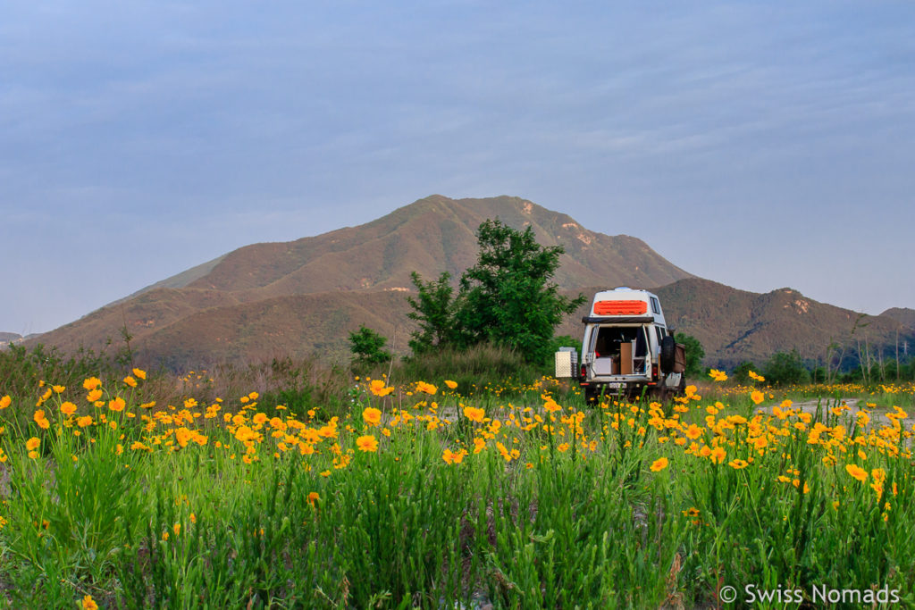 Free Camping in der Natur von Südkorea