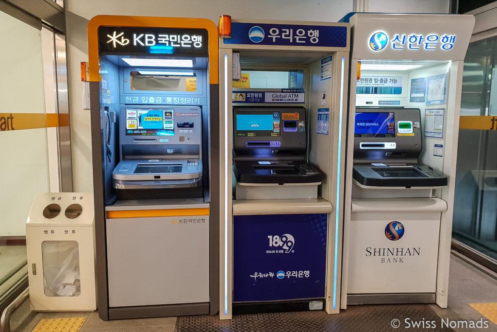 Geld abheben ist in Südkorea einfach