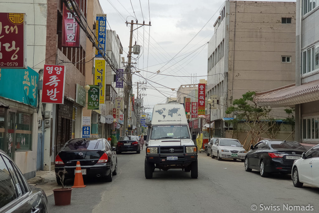Der Strassenverkehr in Südkorea mit dem eigenen Fahrzeug