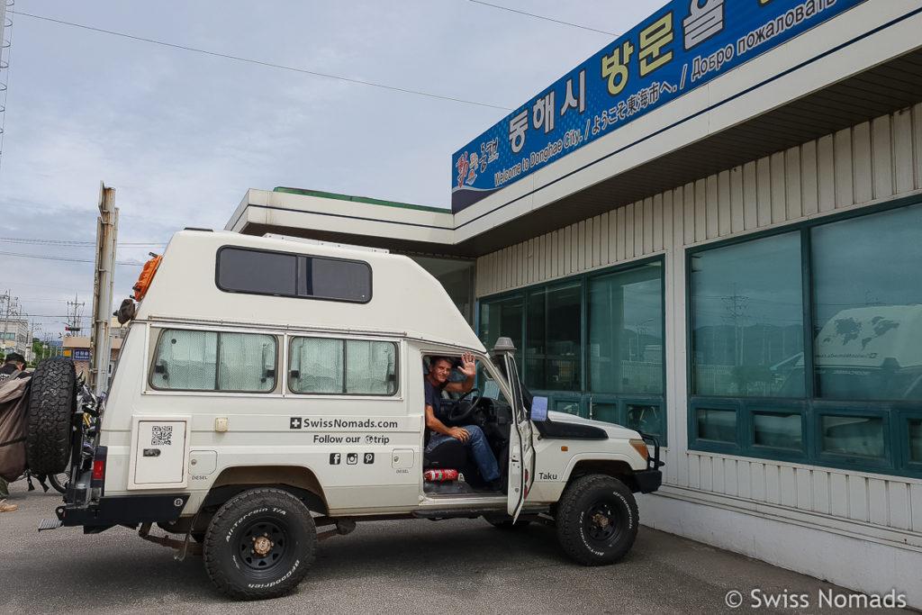 Fahrzeug verschiffen von Südkorea nach Russland