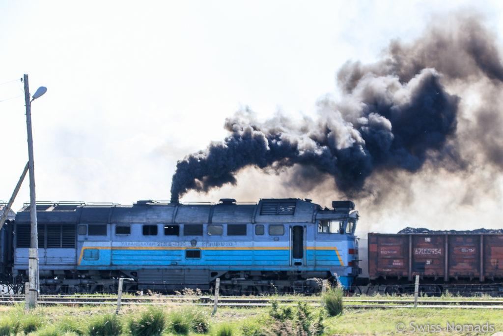 Unsere ersten Eindrücke aus der Mongolei Lokomotive