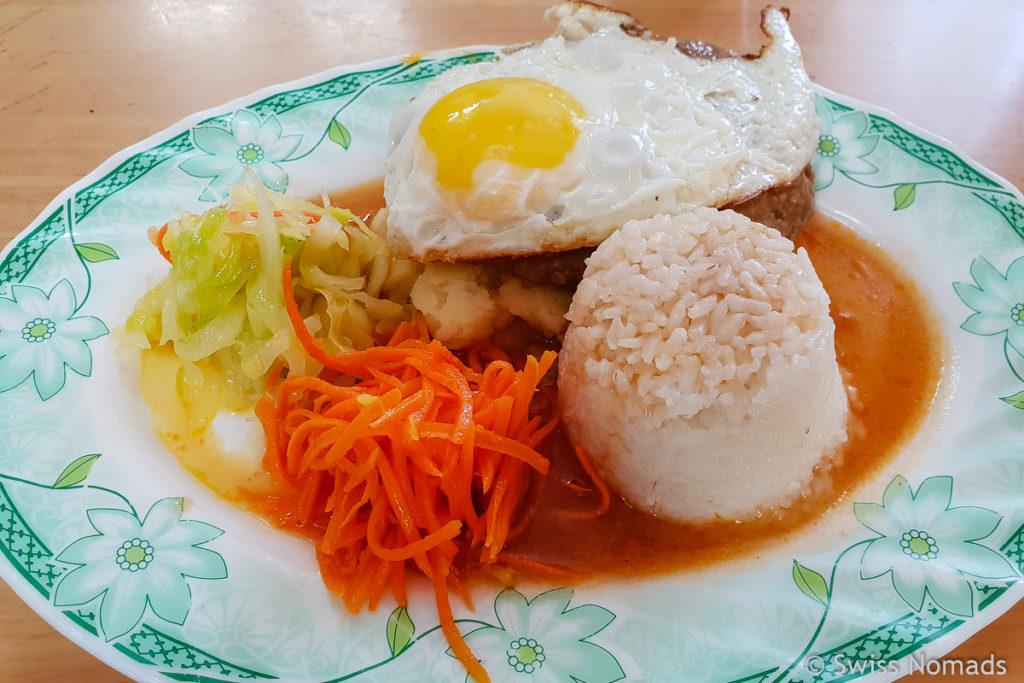 Essen im Restaurant in der Mongolei