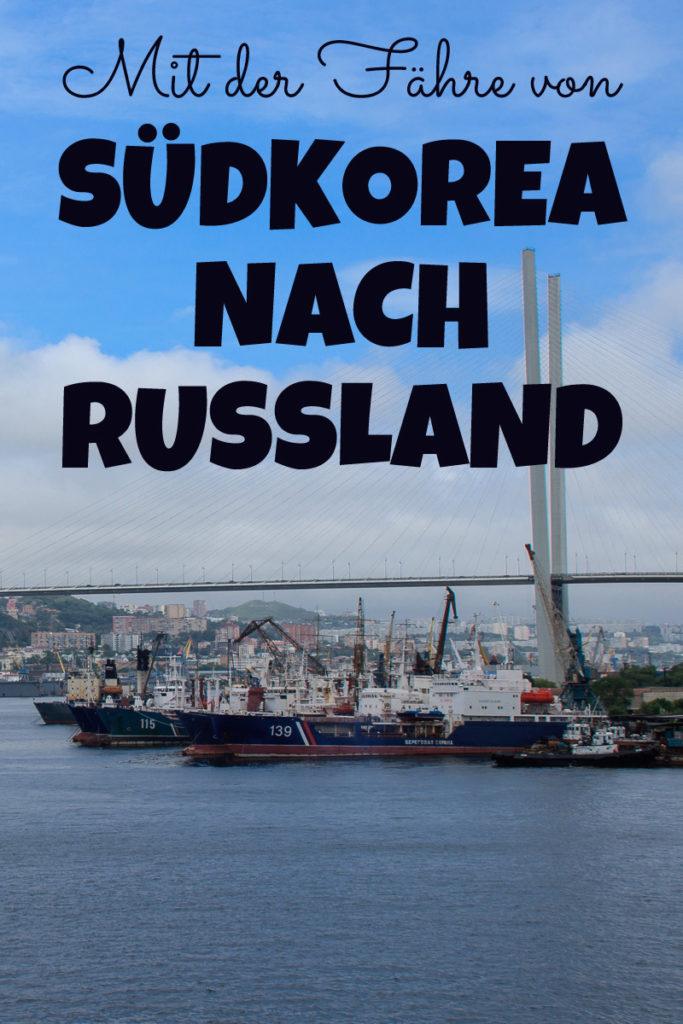 Fähre Südkorea nach Russland