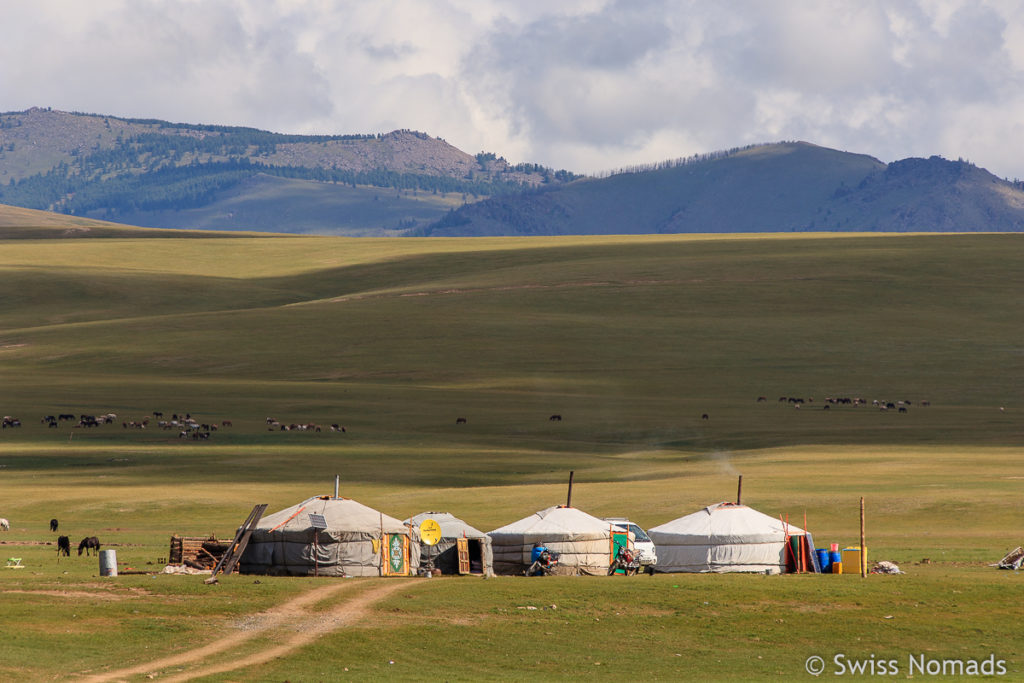 Jurten Camp in der Mongolei