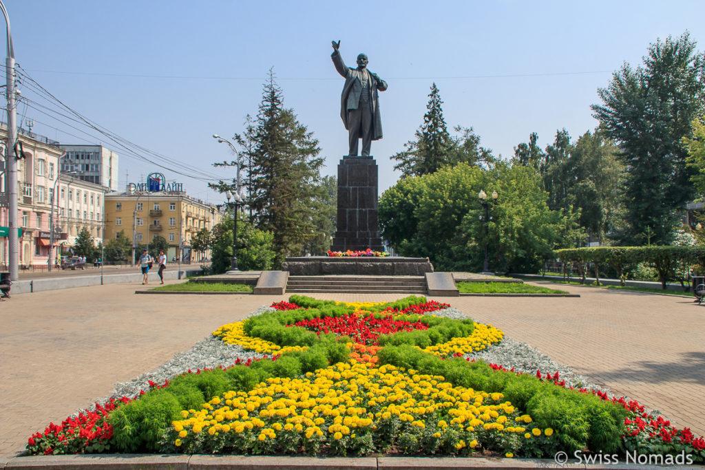 Lenin Statue Sehenswürdigkeiten in Irkutsk