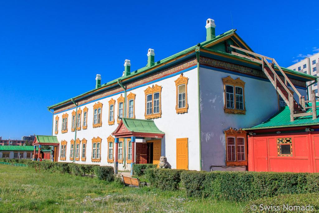 Der Winterpalast des Bogd Khan Museum in Ulaanbaatar