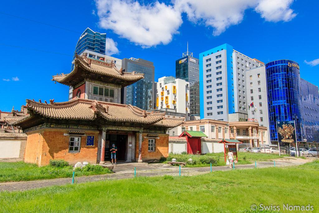 Das Kloster des Choijin Lama ist eine kulturelle Sehenswürdigkeit in Ulaanbaatar