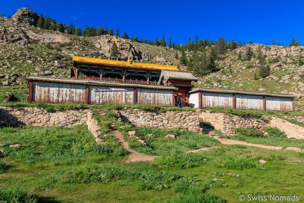 Das Manzushir Kloster ist eine der Sehenswürdigkeiten ausserhalb von Ulaanbatar