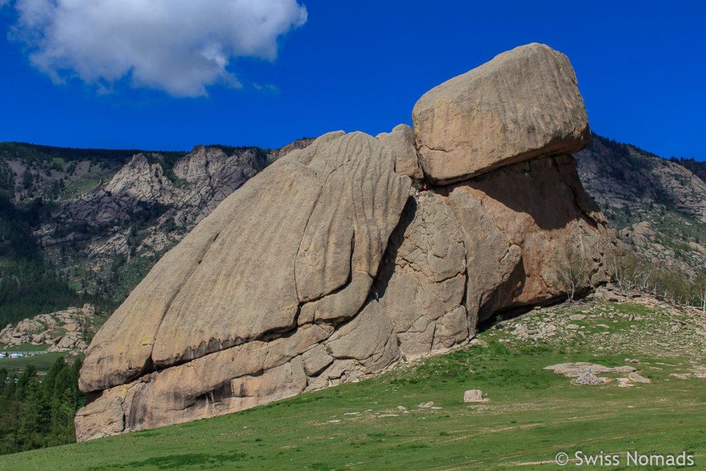 Der Turtle Rock im Gorkhi Terelj Nationalpark in der Mongolei