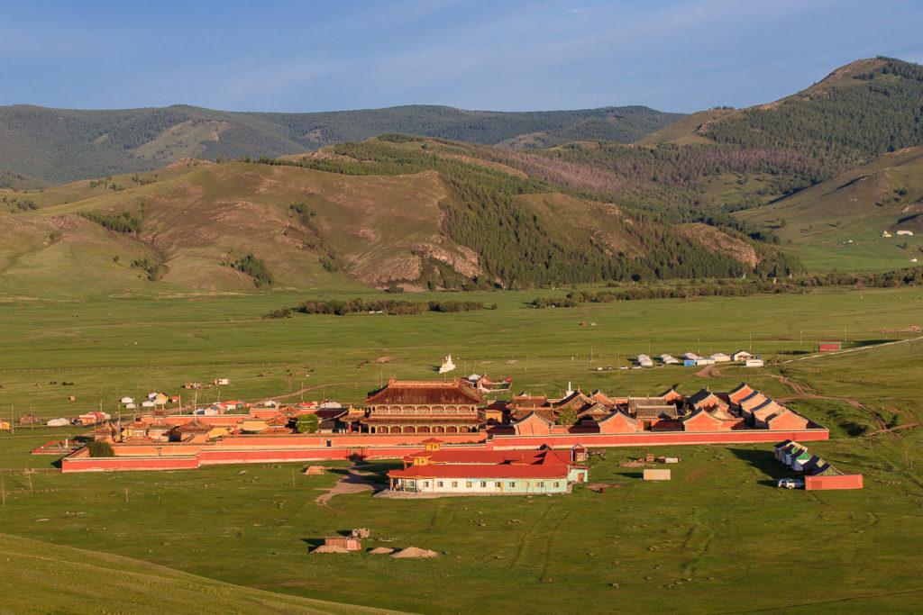Aussicht auf das Amarbayasgalant Kloster, einem der schönsten Orte der Mongolei
