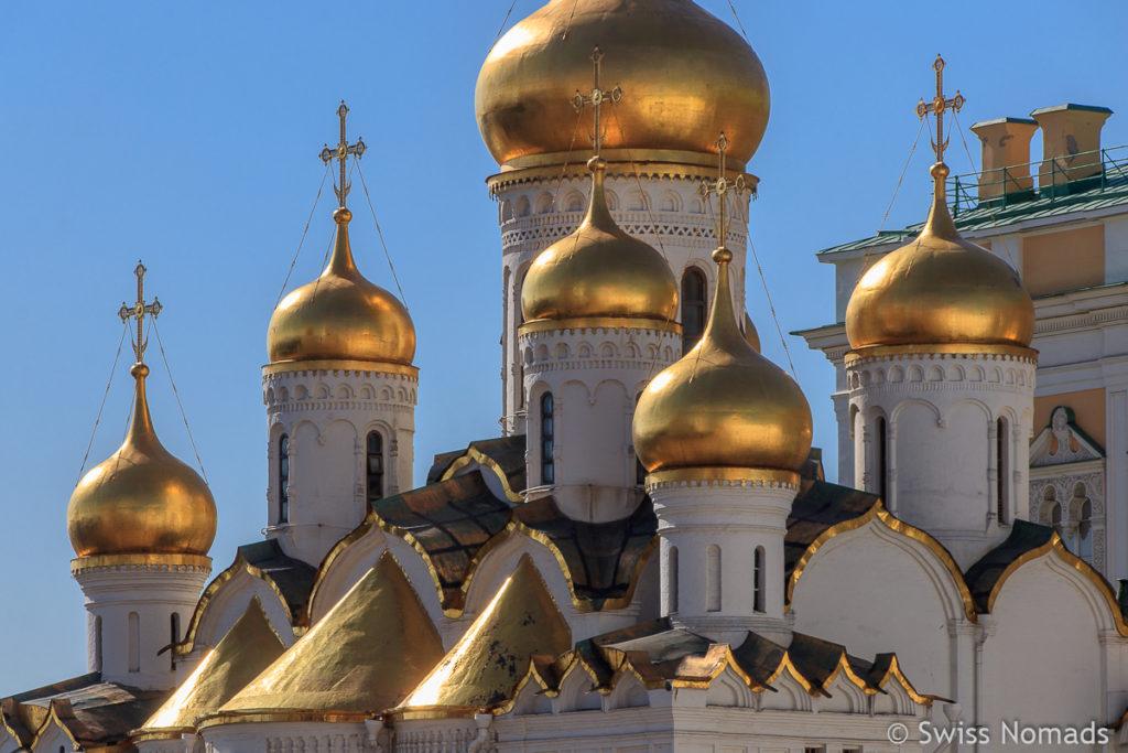 Zwiebeltürme der Mariä Verkündigungs Kathedrale im Moskauer Kreml