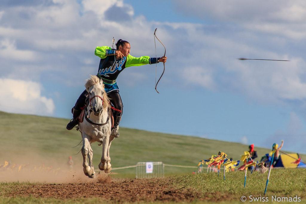 Das Nadaam Festival in der Mongolei ist sehr sehenswert