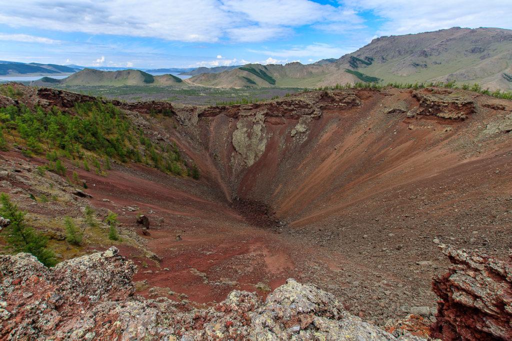 Der Khorgo Vulkan ist ein schöner Ort in der Mongolei