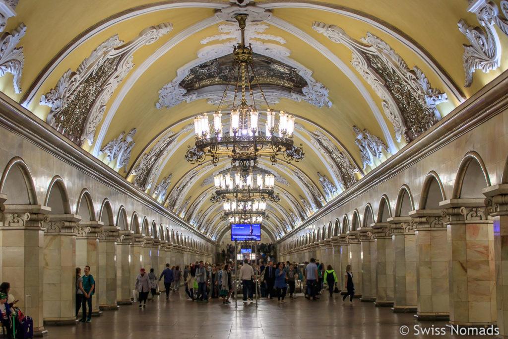 Metro Moskau Komsomolskaya Station