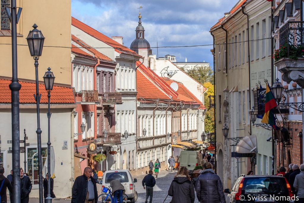Strasse in Vilnius Litauen