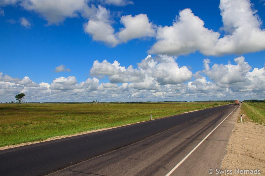 Landschaft auf dem Russland Roadtrip von Wladiwostok zum Baikalsee