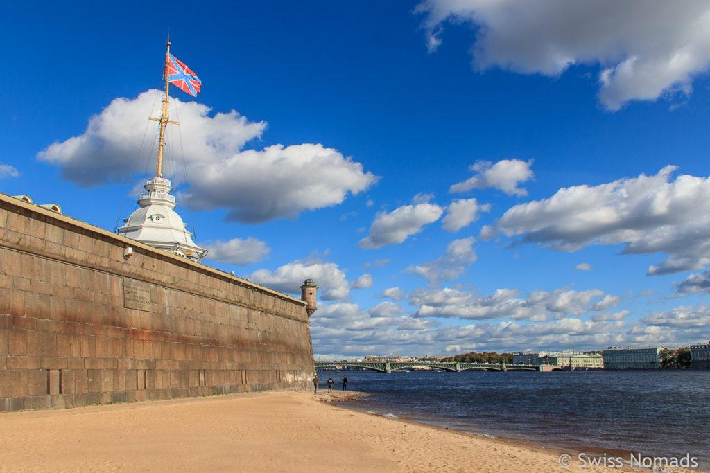 Peter und Paul Festung in Sankt Petersburg