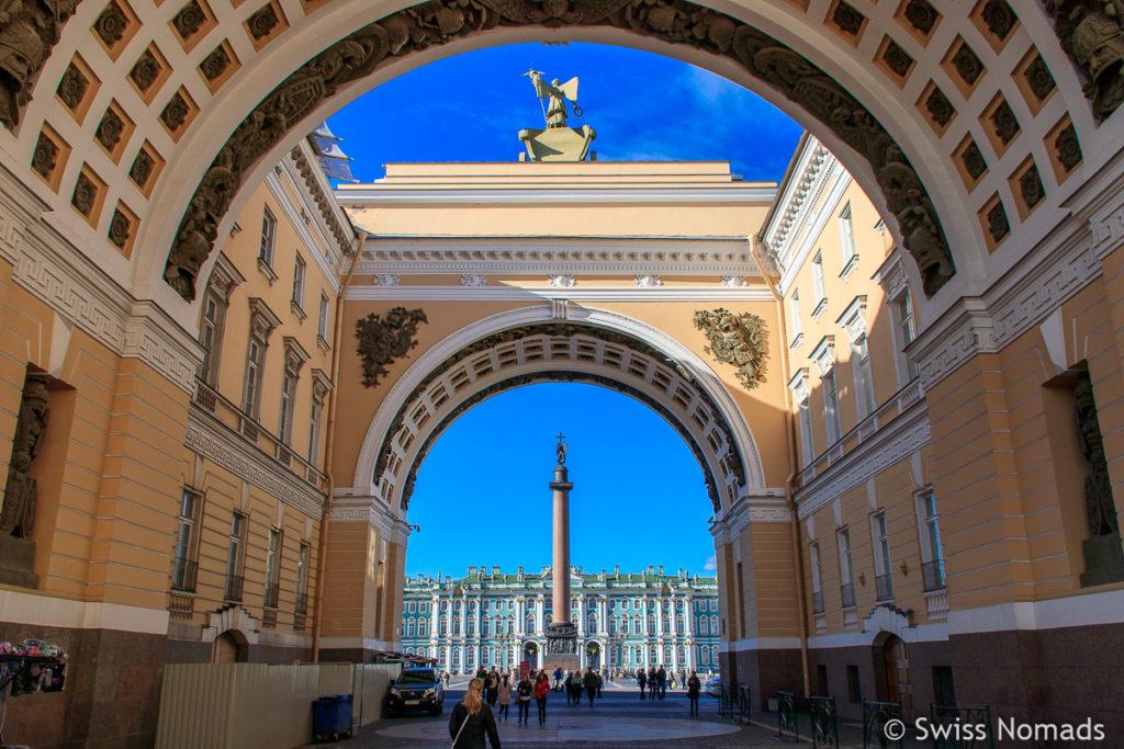 Sehenswürdigkeiten in Sankt Petersburg Palastplatz