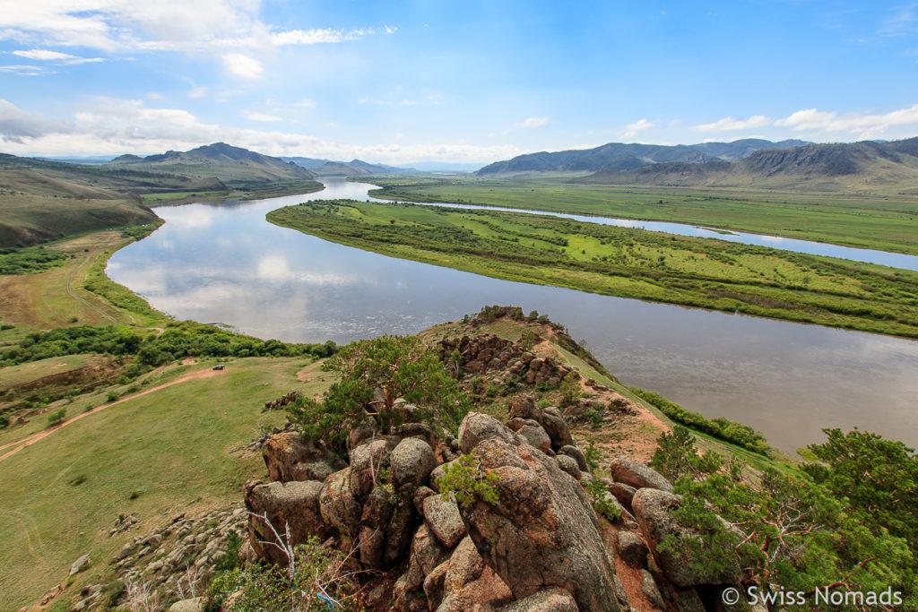 Selenga Fluss zwischen Wladiwostok und dem Baikalsee in Russland