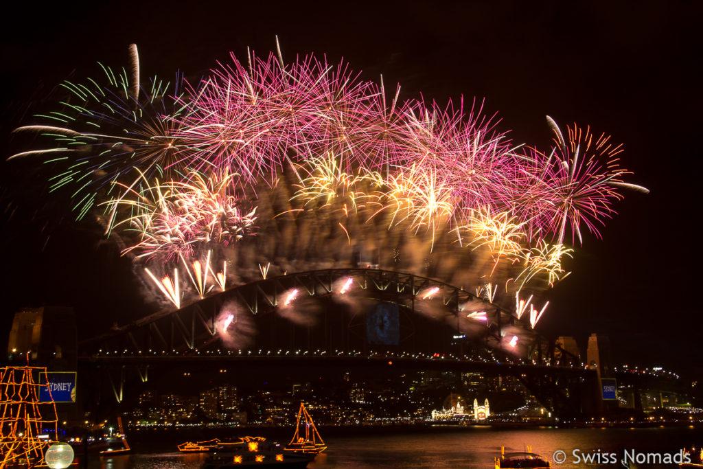 Silvester in Sydney Feuerwerk