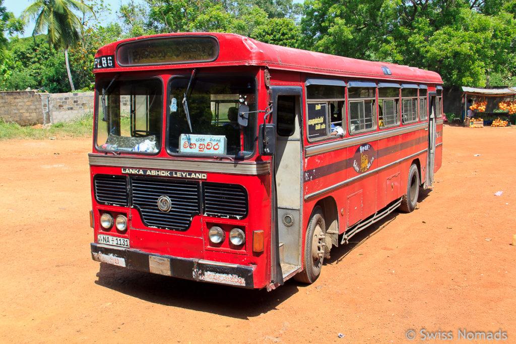 Sri Lanka Reisetipps Bus