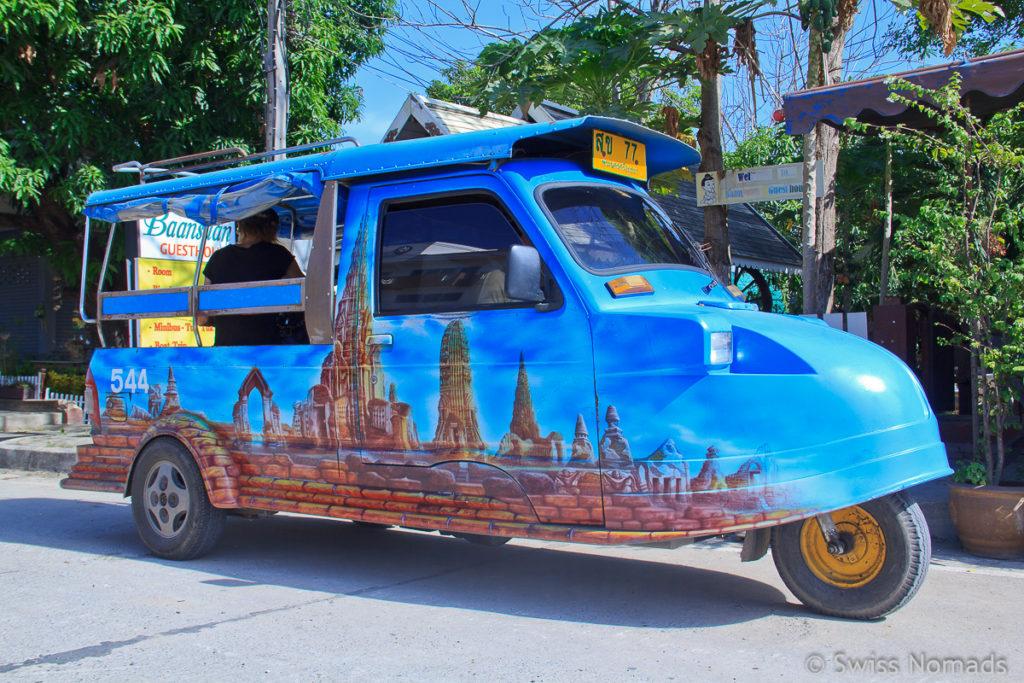 Thailand Reisetipps Transport