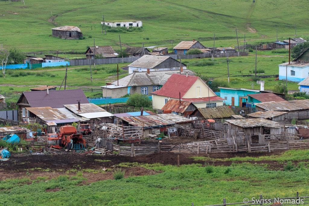 Typisches Dorf im Fernen Osten von Russland