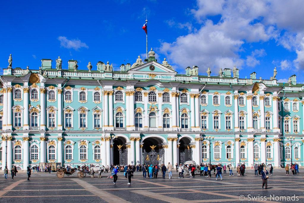 Winterpalast Sehenswürdigkeiten in Sankt Petersburg