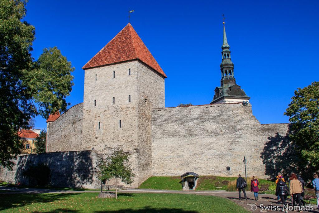 Stadtmauer Sehenswürdigkeiten in Tallinn