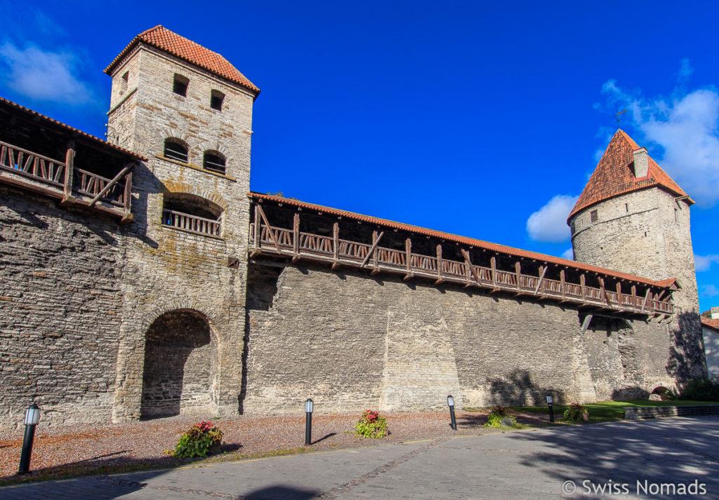 Stadtmauer in Tallinn Sehenswürdigkeiten