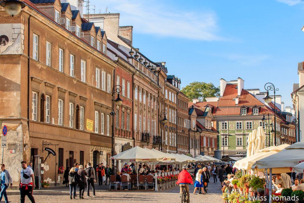 Altstadt in Warschau Sehenswürdigkeiten
