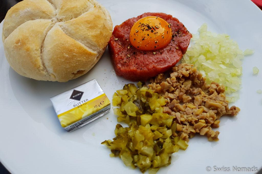 Tartar essen in Warschau