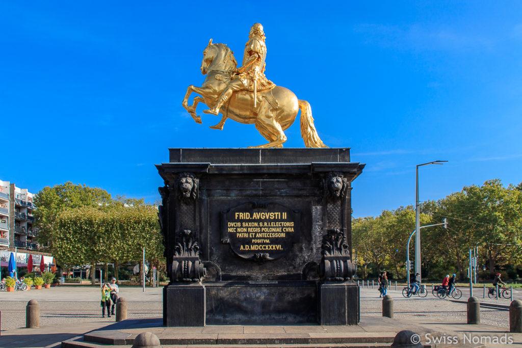Goldener Reiter am Neustädter Markt