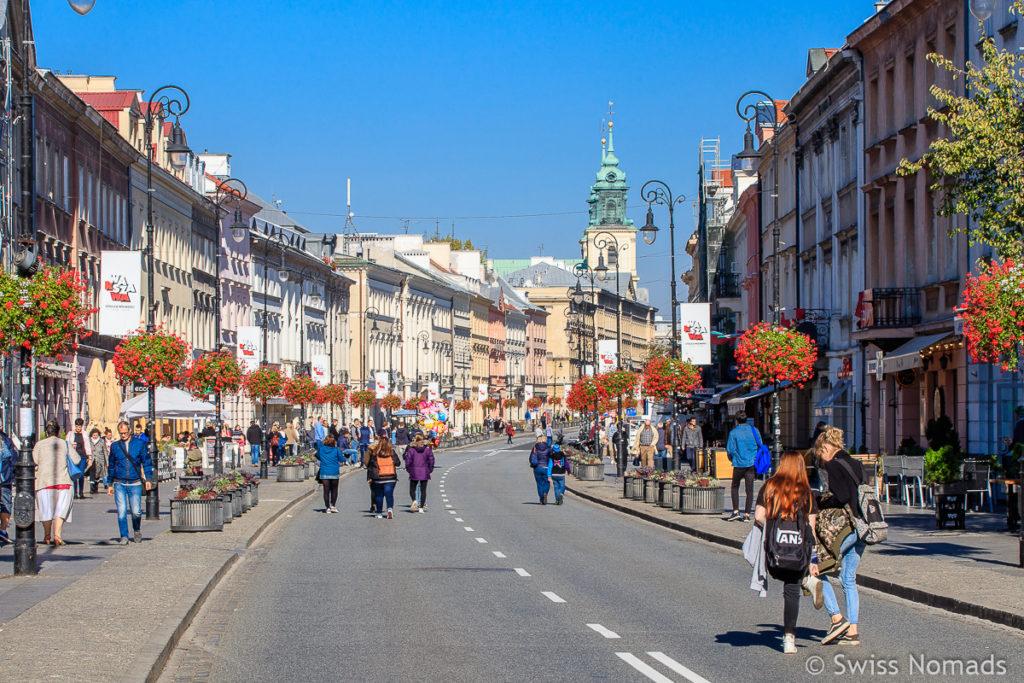 Krakowskie Przedmiescie Strasse Warschau