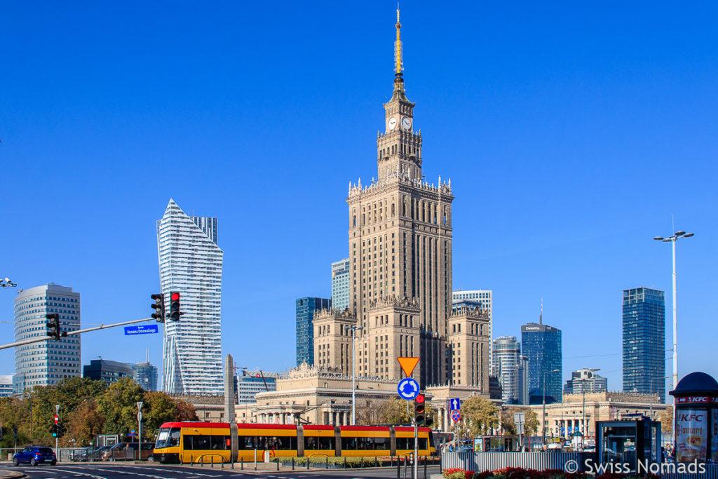 Sehenswürdigkeiten in Warschau Kulturpalast
