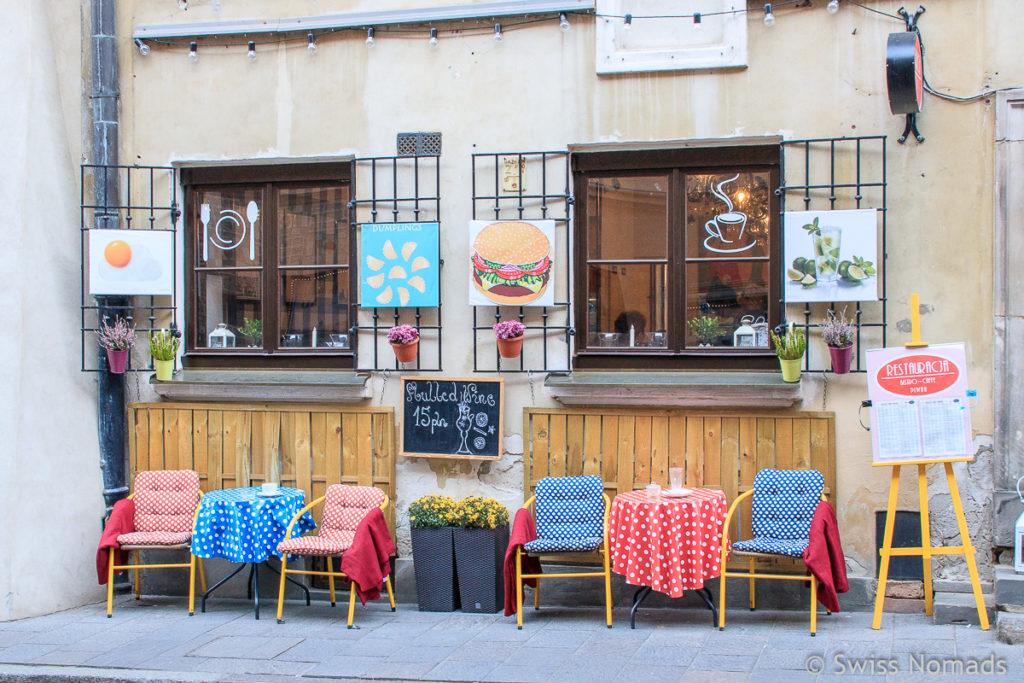 Restaurant in der Altstadt in Warschau