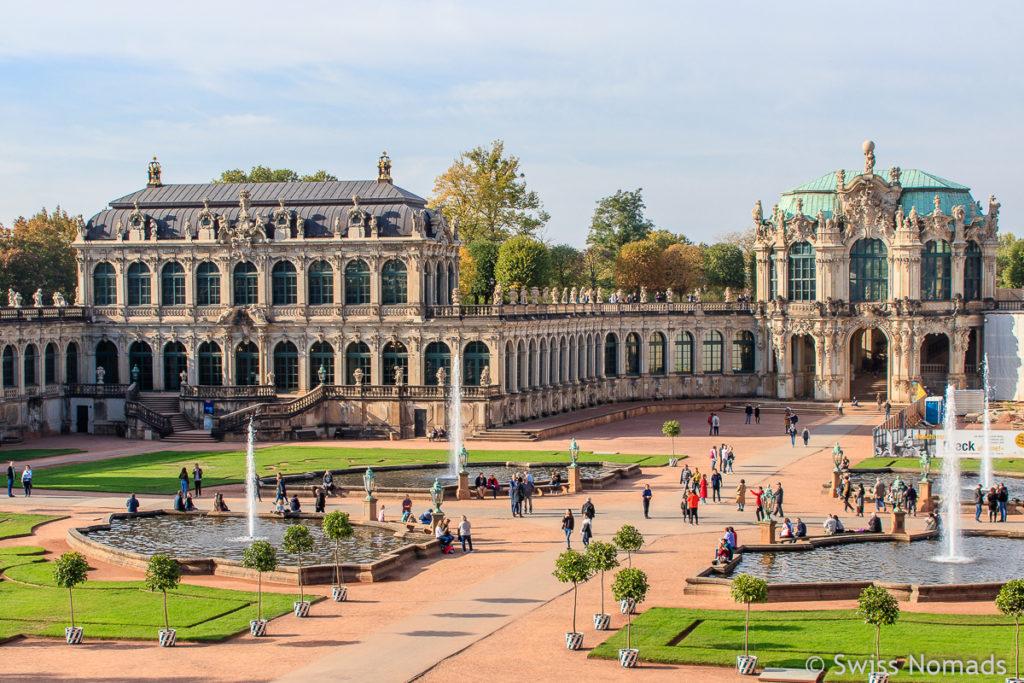 Zwinger Gartenanlage Sehenswürdigkeiten in Dresden