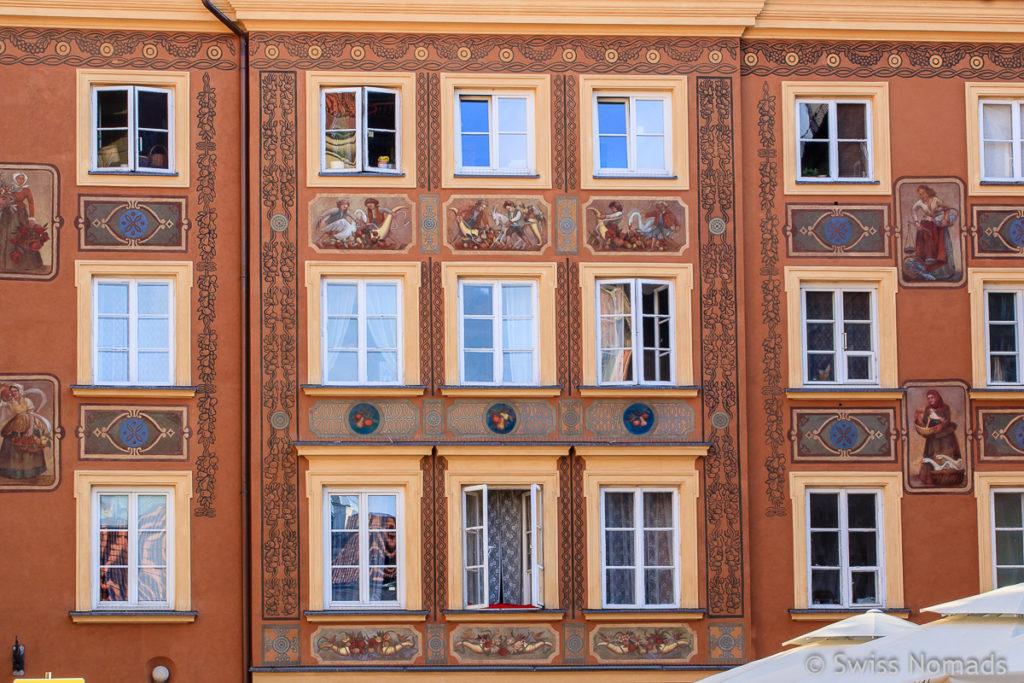 Fassade in der Warschauer Altstadt
