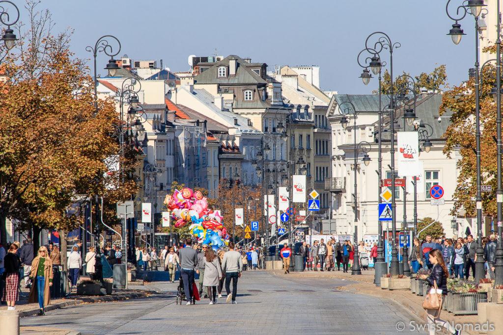 Krakowskie Przedmiescie Strasse in Warschau