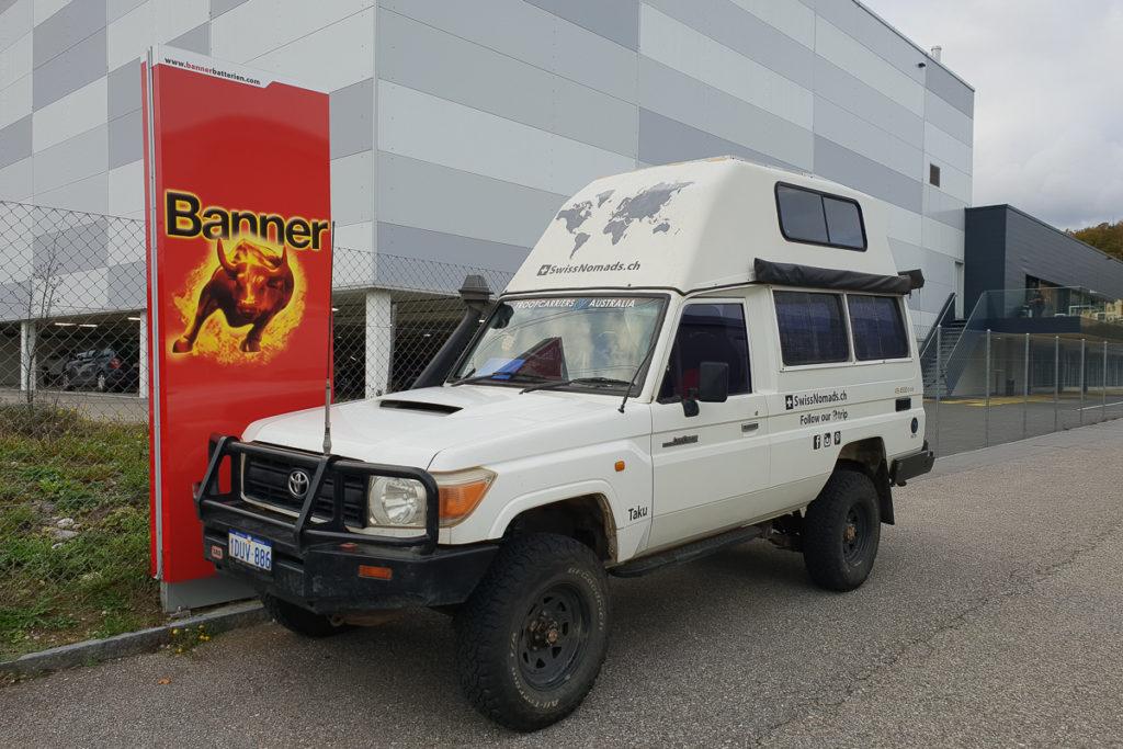 Neue Banner Batterien für unseren Offroad Camper