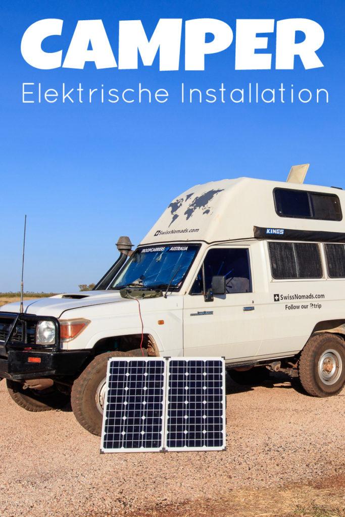 Die Elektrische Installation für deinen Camper