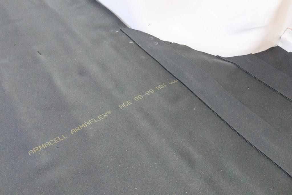 Camper Isolieren mit Armaflex - Abdecken der Übergänge