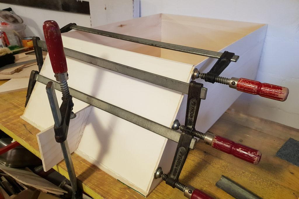 Schublade für den Camper Möbel Bau