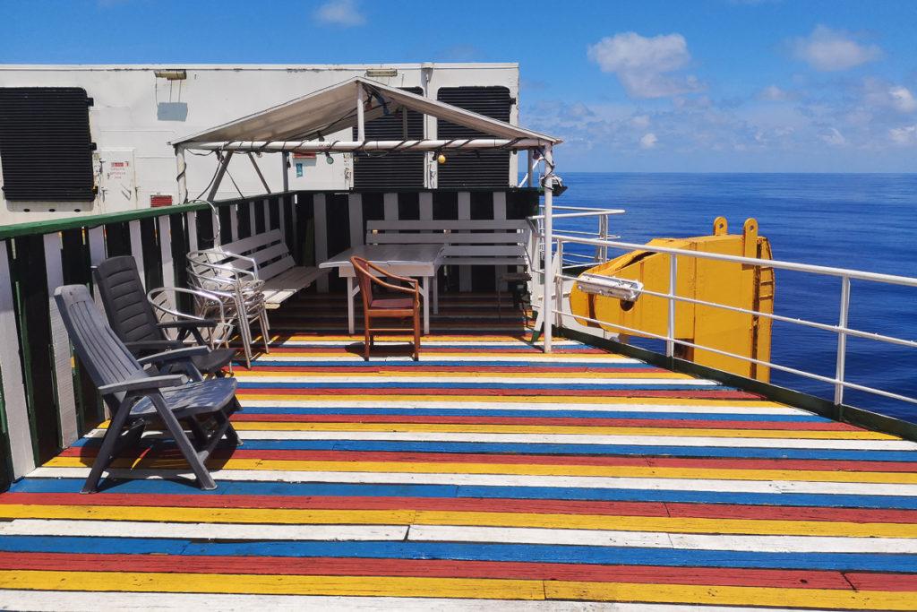 Digital Detox auf der Frachtschiff Reise mit grandioser Aussicht